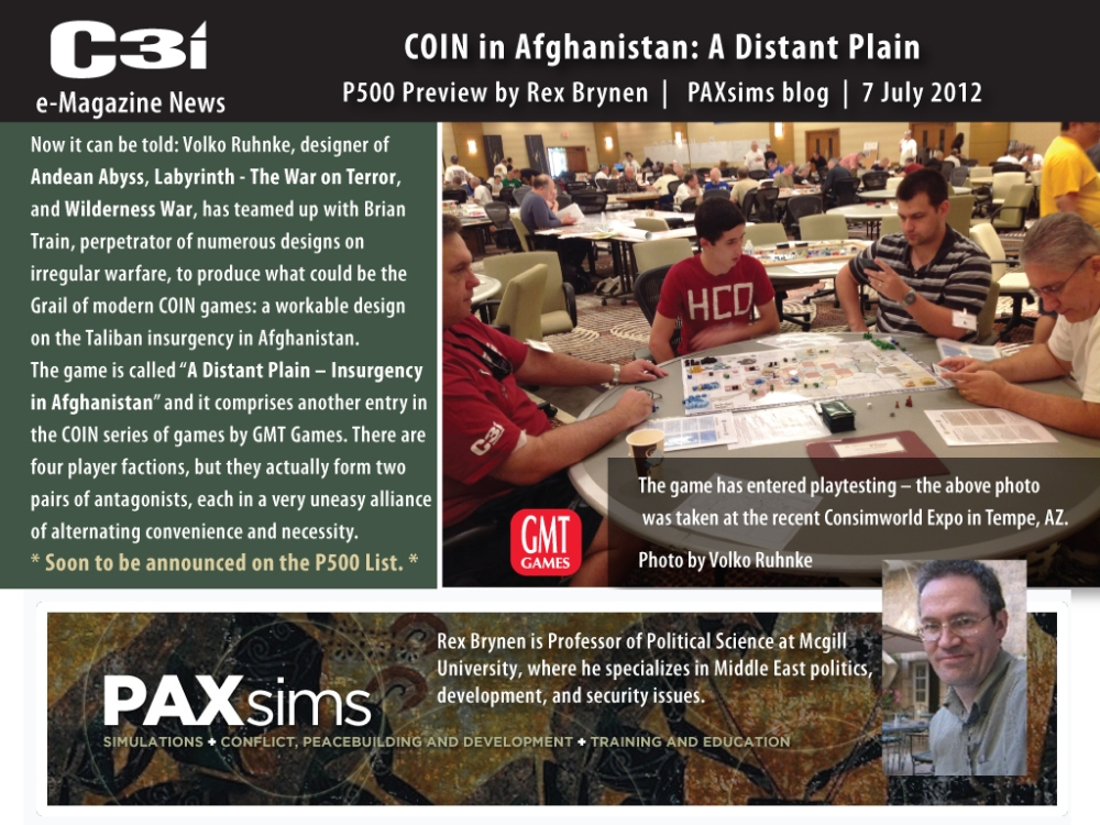 COIN in Afghanistan: A Distant Plain (4/5)