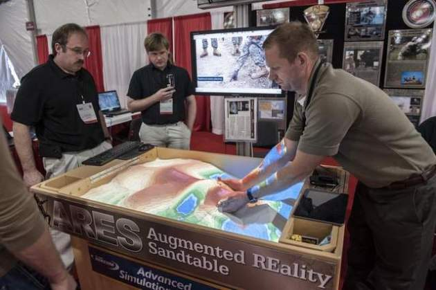 The Augmented REality Sand table (ARES).