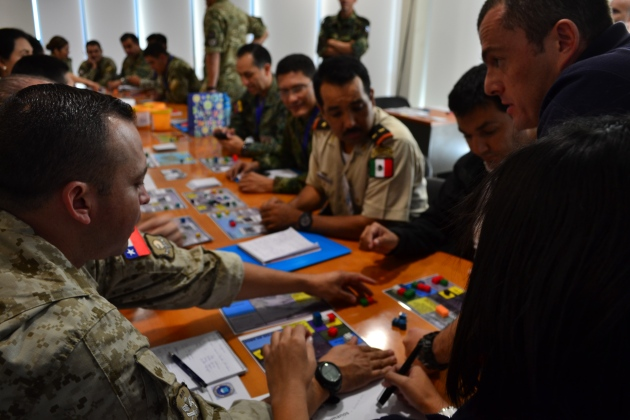 AFTERSHOCK at the Chilean Joint Peacekeeping Operations Center.
