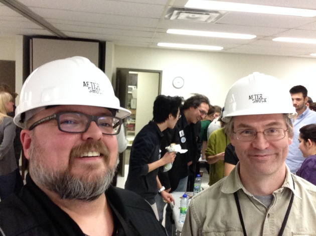 Tom and I—in white hats, of course.
