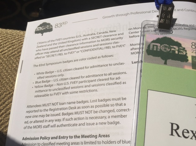 The MORS misfit Green Badge of Death, so reviled it isn't even mentioned in the conference program.