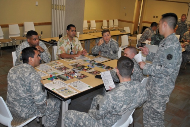 AFTERSHOCK being played by members of the 9th Mission Support Command, US Army Reserve.