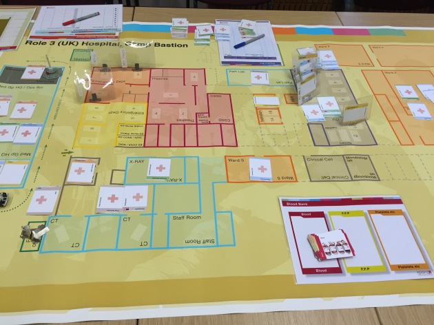 Part of David Vassallo's extremely impressive HOSPEX field hospital simulation game, first developed in Philip Sabin's MA class in conflict simulation at KCL.