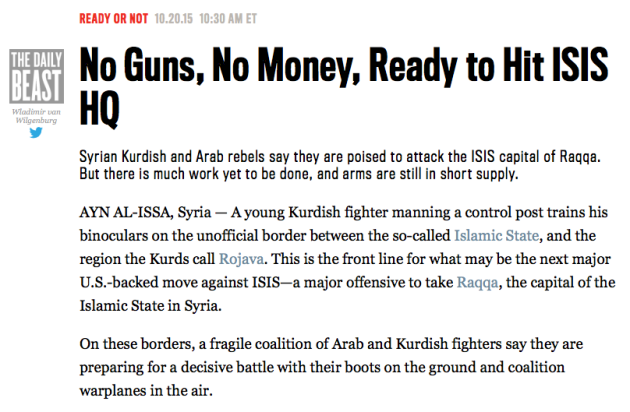 Another recent real-world headline that closely mirrored our game of ISIS Crisis.