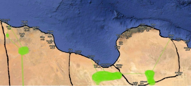 Libya Map North