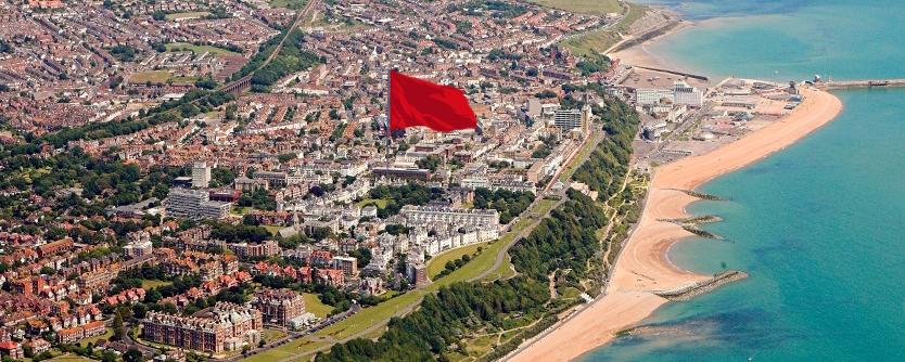 aerialphotofolkestoneflag