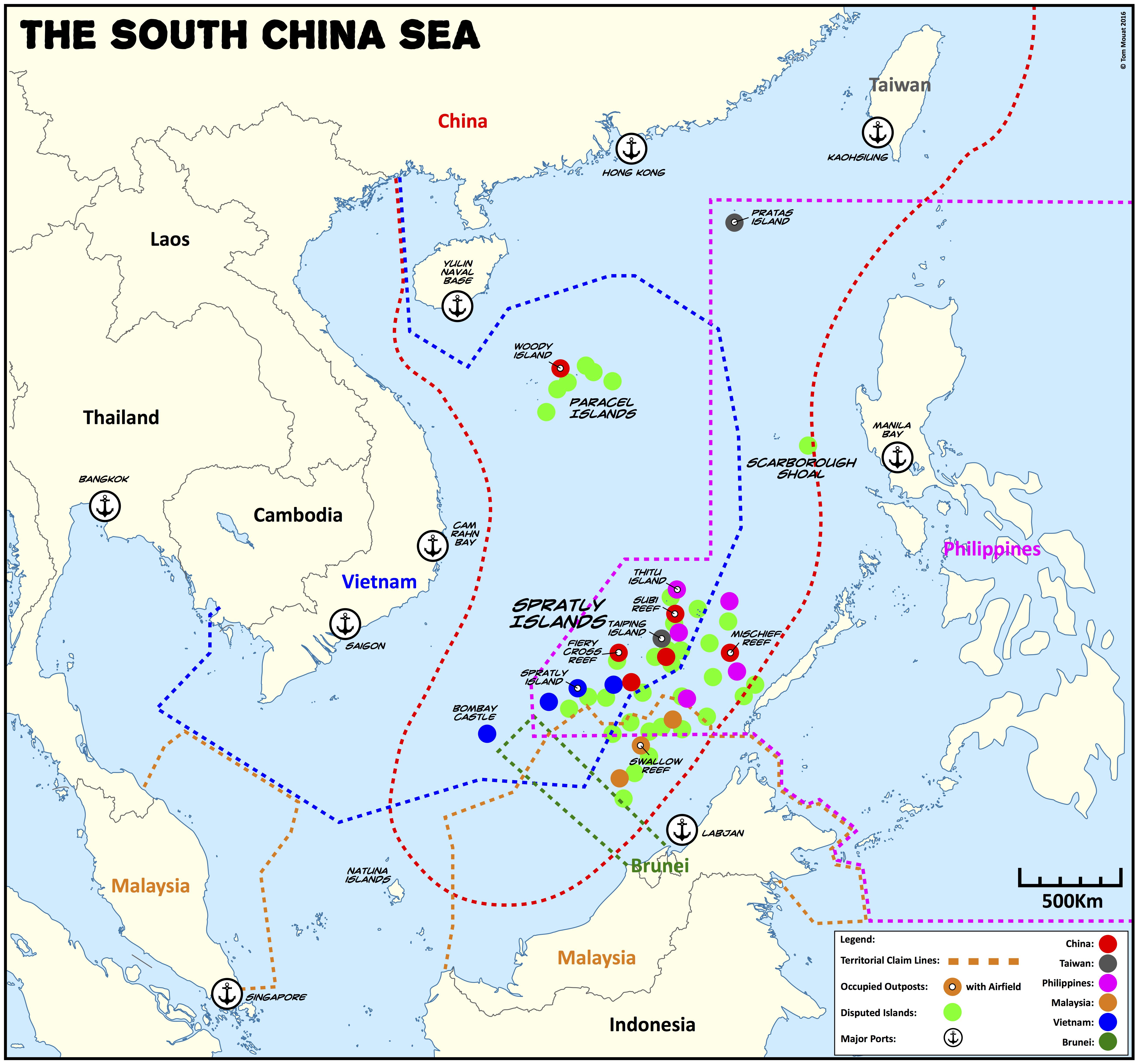 Nine-dash Line: A South China Sea matrix game | PAXsims