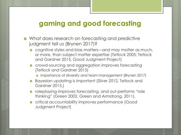 Dstl Forecasting